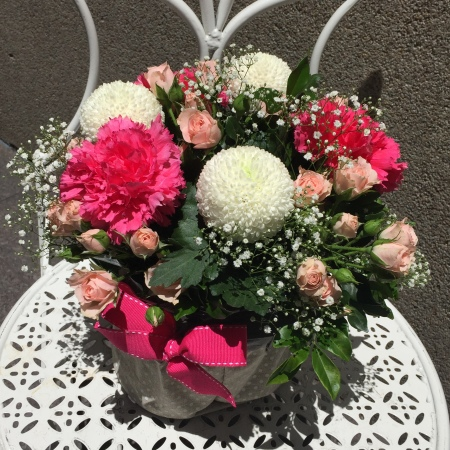 Mixed Boxed arrangement Pink