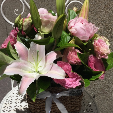 Mixed Pastel Pink Basket