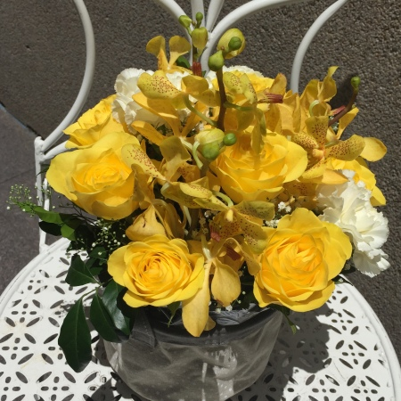 Mixed boxed arrangement Yellow