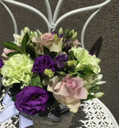 Mixed Boxed Arrangement Purples